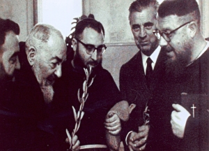 Enrico Medi Second From Right With Padre Pio Second From Left