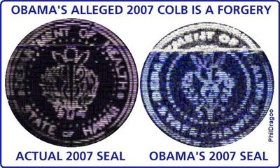 Obama Criminal Skills: Even Bambi's COLB plastered On The Internet Pre Election Is A Forgery! Affidavits Have Been Filed.