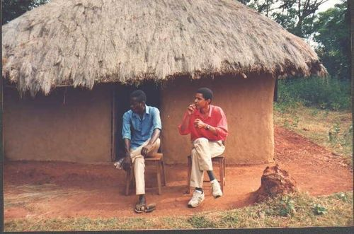 Obama With Family In Kenya
