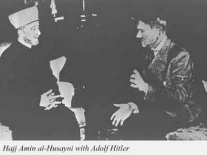 Islam's Mufti Husseini Shares A Common Hatred Of The Jews With Adolph Hitler. Here They Cooperate with The Jews Extinction.