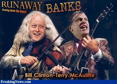BANKS, clinton, glass steagall