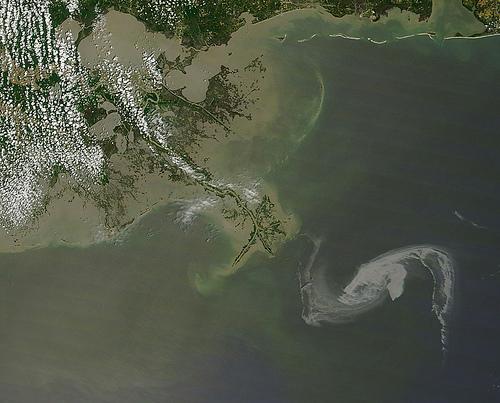2010/119 - 04/29 at 16 :48 UTC Oil slick in the Gulf of Mexico