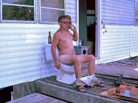 Redneck Olbermann Caught Sipping A Few At His Ranch!