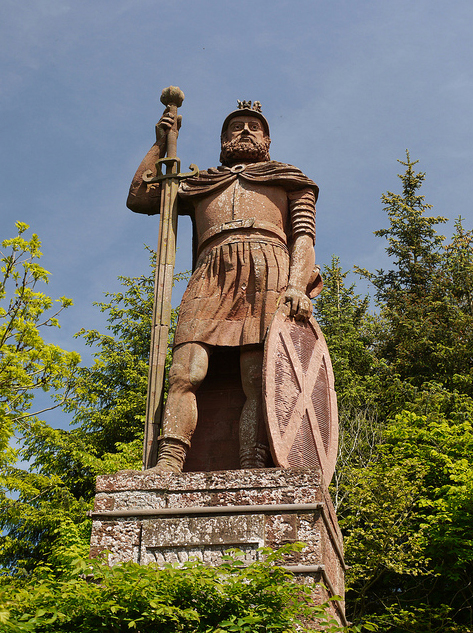 Roman Catholic William Wallace With Saint Andrew's Cross ~ Later Becoming The Rallying Confederate Flag For The Scottish/Irish Catholics.