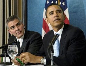 BANKER'S COMMUNIST HOLLYWOOD LINK GEORGE CLOONEY: THE MAN RESPONSIBLE FOR TEACHING HISTRIONICS/ACTING TO OBAMA