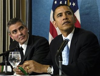 BENKER'S COMMUNIST HOLLYWOOD LINK GEORGE CLOONEY: THE MAN RESPONSIBLE FOR TEACHING HISTRIONICS/ACTING TO OBAMA