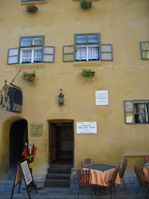The birthplace of Vlad Tepes (Dracula).