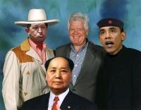 L->R  Hugo Chavez, Mao Tse Tung, McDermott, Soetoro