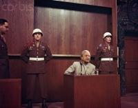 Hermann Goering at Nuremberg Trial.