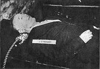 Julius Streicher Executed By Nuremberg Trials For Crimes Against Humanity By Debasing The Media for Hitler.