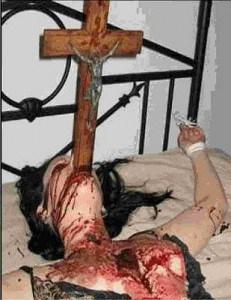 Christian islam murder by crucifix