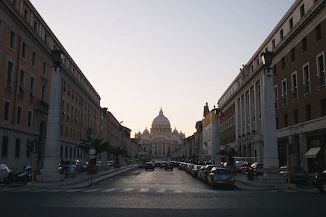 St Peter's Basilica from end of Via D. Consciliazione