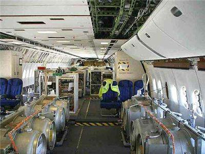 """INSIDE A GOV'T AIRCRAFT!! download the graphic and use magnifying glass to read it Notice sign on wall with yellow/black stripes around it says """"sprayer 1""""."""