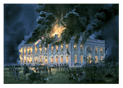 British Burning The White House ~ 1814
