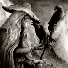 Odin With Thought (Huginn) & Memory (Muninn), They Bring Odin The Information Of What Transpires In The World. The Raven Is Also The Form Of The Valkyrja or Valkyrie