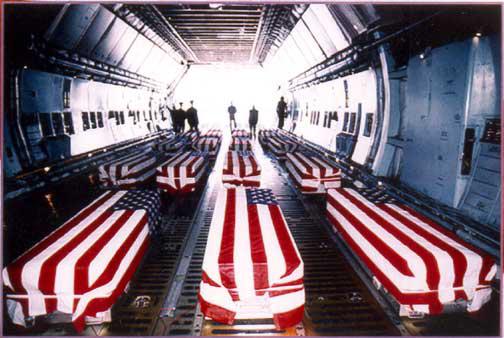 iraq flag draped coffins