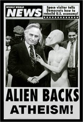 Richard Dawkins and aliens and atheism