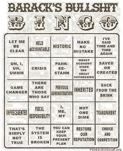 Barrack Bullshit Bingo