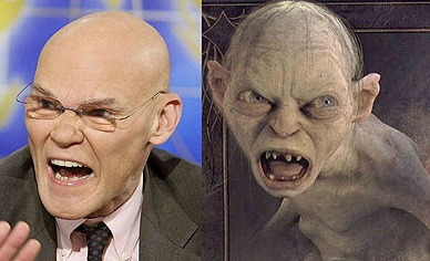 Image result for James Carville as gollum