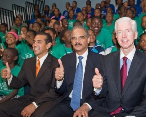 Holder Sitting With ACORN
