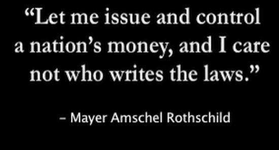 THE ROTHSCHILD FEDERAL RESERVE MONETARY SYSTEM ESTABLISHED 1913.