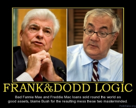 "Banking Cabal Gone Wild: How The U.S. Citizens Were Deceived About The Rothschild International ""PAPER"" Bail-In Regime: The Innocuous Corrupt Dodd-Frank Bill.  Frankdodd-logic-the-audacity-of-democrats-political-poster-1281871005"