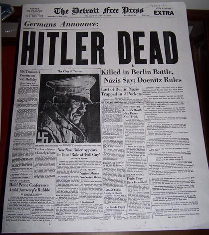 news hitler dead