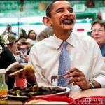 Obama Dining on Oily Gulf Shrimp