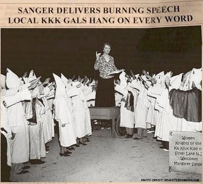 WHITE NAZI SUPREMACIST MARGARET SANGER
