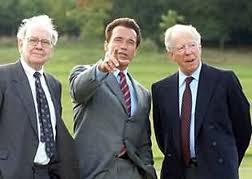 Warren Buffet, Arnold Schwarzenegger, Jacob Rothschild