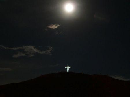 El Cristo de la Concordia statue in Cochabamba, Bolivia