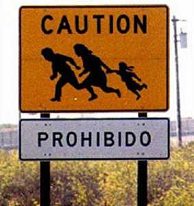 illegal immigrant sign