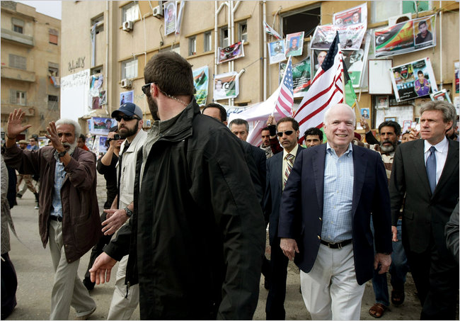 Council On Foreign Affair's McCain ~ Fomenting War In Libya Through 'humanitarian auspice' to obtain in the end Libya Gold/Silver/& Establish Rothschild Central Bank. This to ultimately lead to World Banking Via Rothschild & The Demise Of The U.S. Republic and replaced by thug democracy!