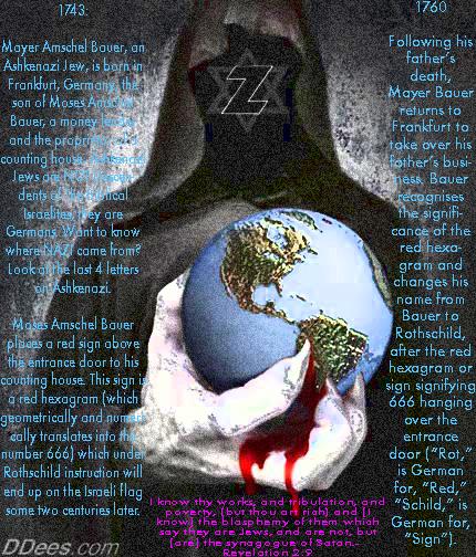 Ashkenazi Rothschild ~ The False Jew!