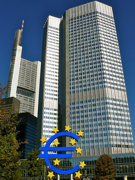 Here is a picture of Rothschild's European Central Bank, which is located in Frankfurt, Germany!