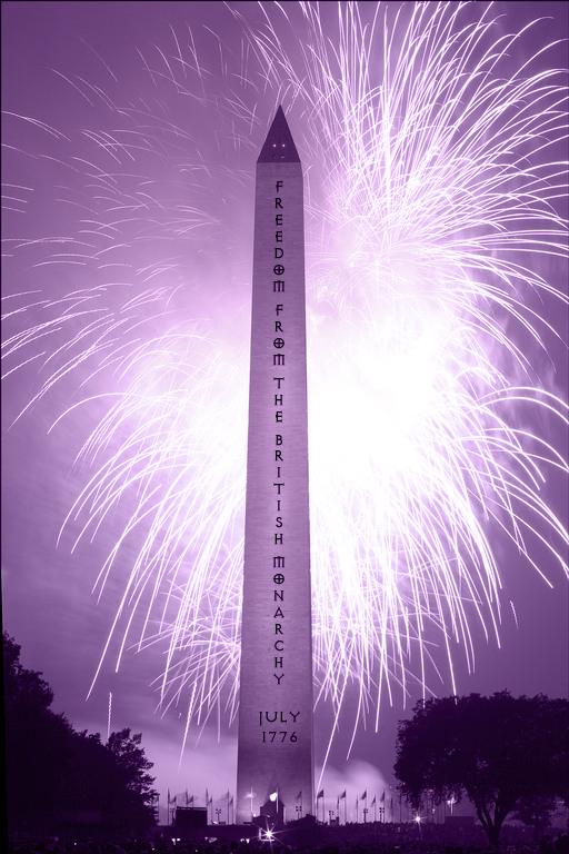 declaration of independence purple tone