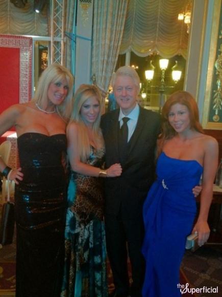 Bill Clinton Posing With Porn Stars.