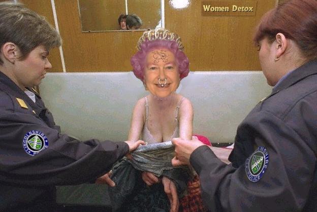 queen arrested