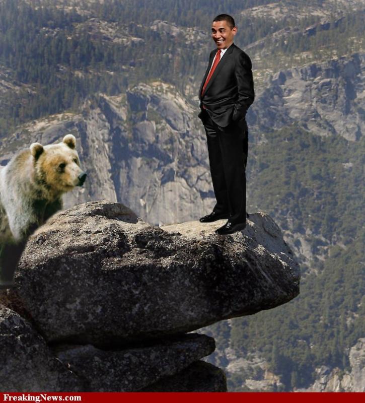 Obama Cliff russia bear