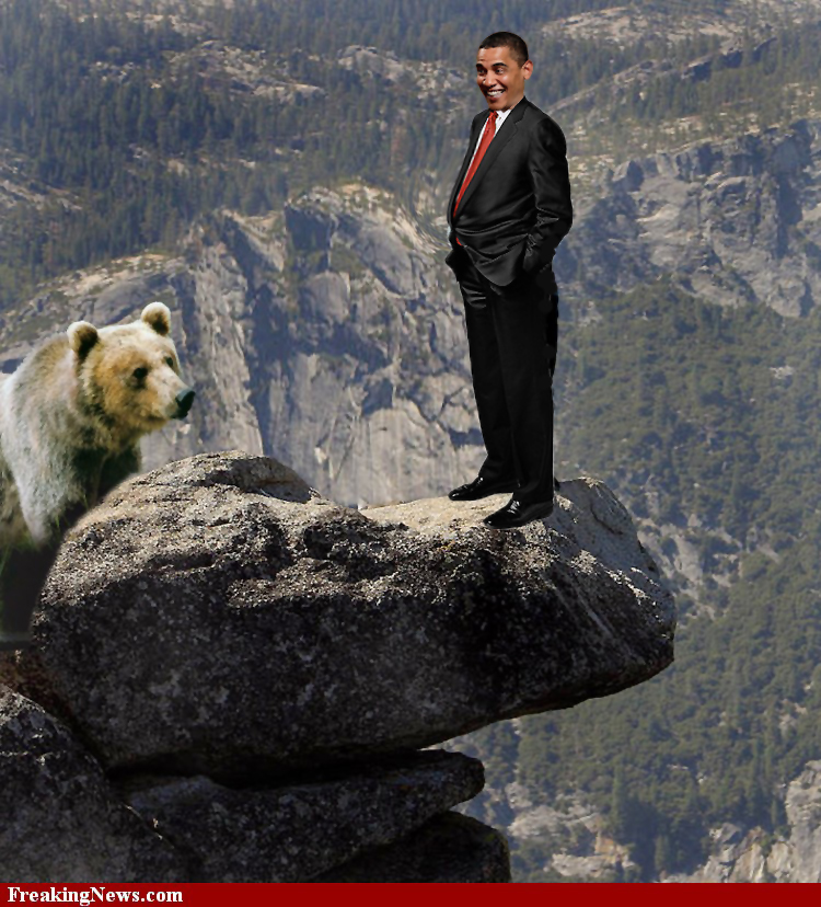 Obama Cliff russia bear