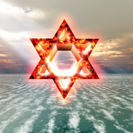 zionist dragon fire star