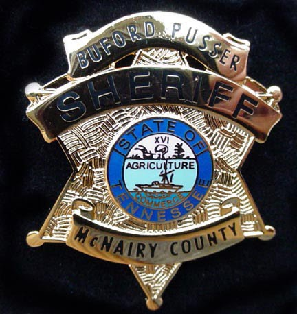 Sheriff Badge Of Tennessee's Buford Pusser Who Stopped The Banking Mafia.