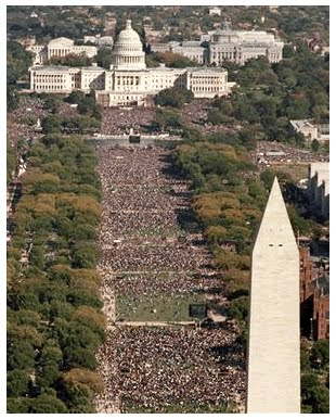 Americans March Against Obama In The +2,000,000 People Protest That MSNBC said were only about 500. September 12, 2010