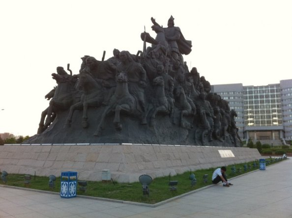The Answer To China's Ghost Cities: Destroying Farm Production [Agenda 21] By Forcing The Rural Chinese Into Newly Built $Consumer Based Urban Concentration Cities. THEN DEPOPULATION!  This-monument-is-dedicated-to-genghis-khan1
