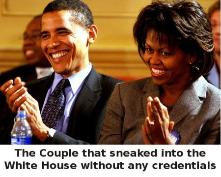 U.S. Constitution Closing In On Barack Obama: Barry Soetoro's Identity Fraud. Barack-obama-and-his-wife-sneaked-into-the-white-house-with-no-credentials