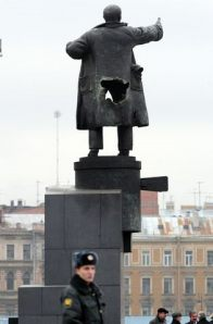 Another View Of Lenin's Statue In Russia
