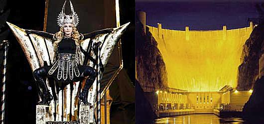 Madonna Halftime Illuminati Subliminal Skit About Hoover Dam.