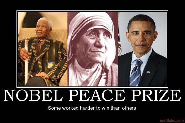 Image result for Mother Teresa obama Peace Prize.