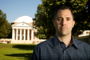 "University of Virginia Psychology professor, Dr. Brian Nosek, is the co-founder of Project Implicit, a program of research about the detection of racial and sexist automatisms.///Dr. Brian Nosek on ""the lawn"" at University of Virginia."
