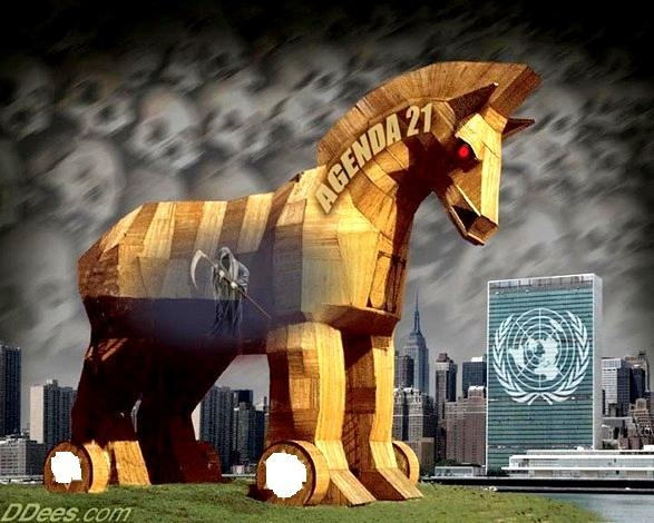 HUMANITY ROARS AS IF LIONS ATTACKING THE BANKER'S AGENDA 21 MATRIX SCHEME. Agenda-21-trojan-horse